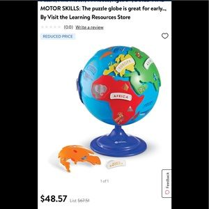 Blue & Red Puzzle Globe & Learning Passport Set